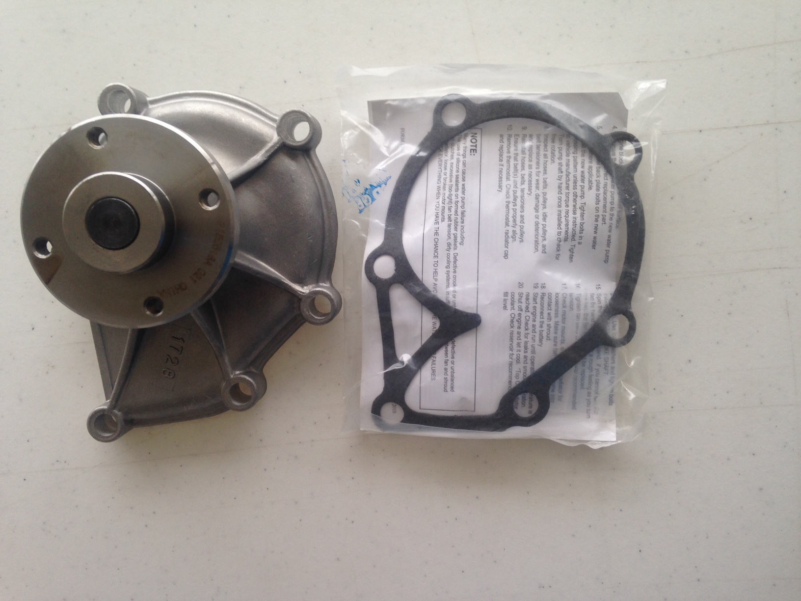 Water Pump W/Gasket G272,G274
